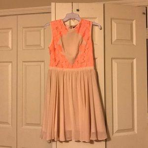 Beautiful peach/pink Ted Baker dress